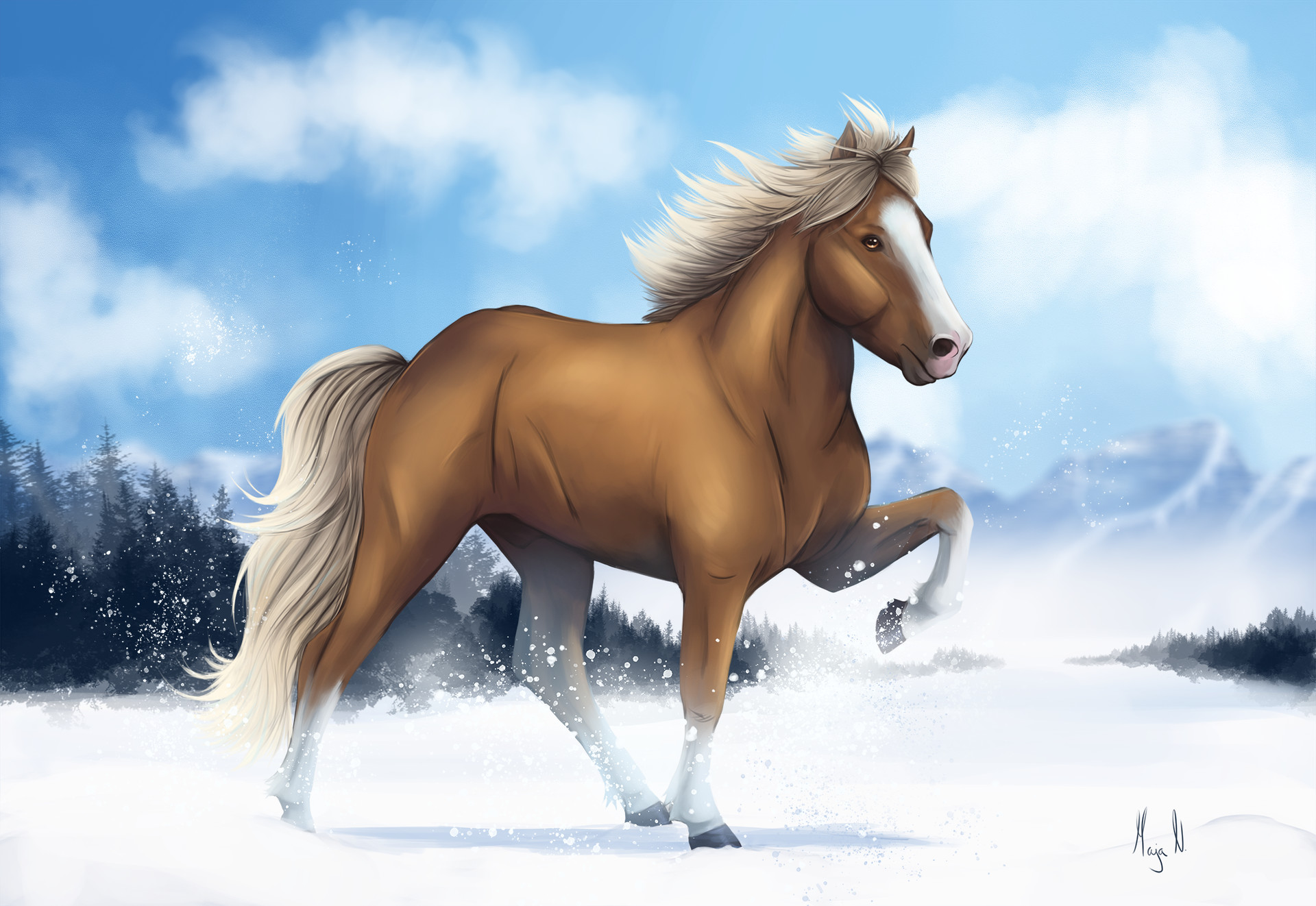 Maja Nygjelten The Horse From The Land Of Ice And Fire