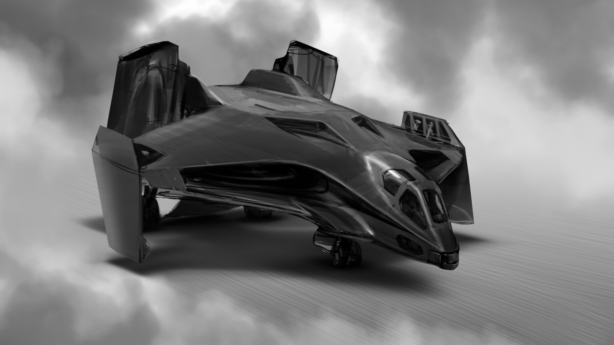 An idea of how the wings could fold for carrier storage, as well as the engines rotating for additional VTOL thrust.