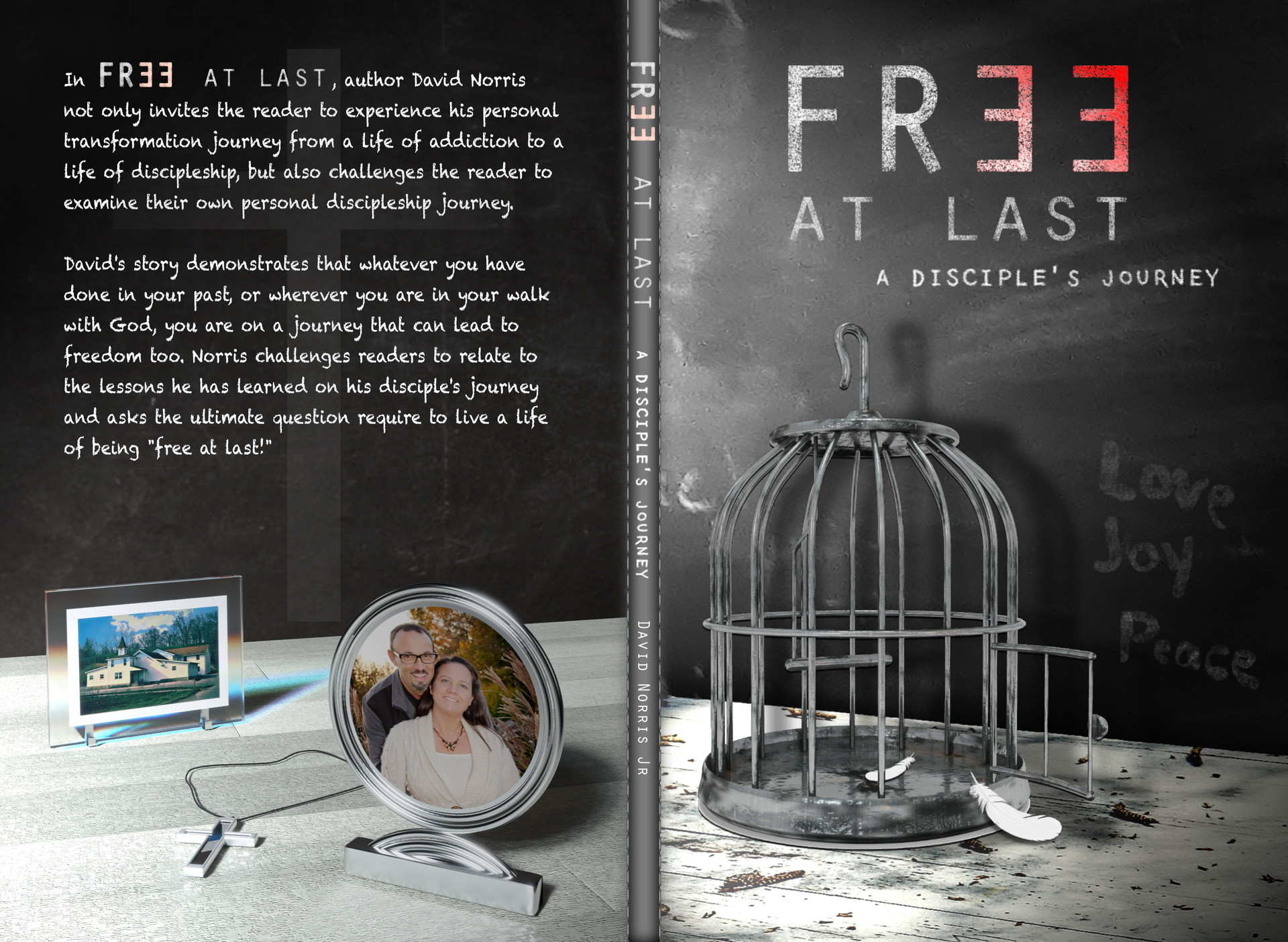 """Free at Last"" Book Cover. Dimensions set properly and ready for print."