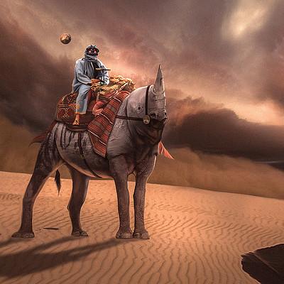 Travis lacey desert rhino mount creature concept art sandstorm travis lacey web