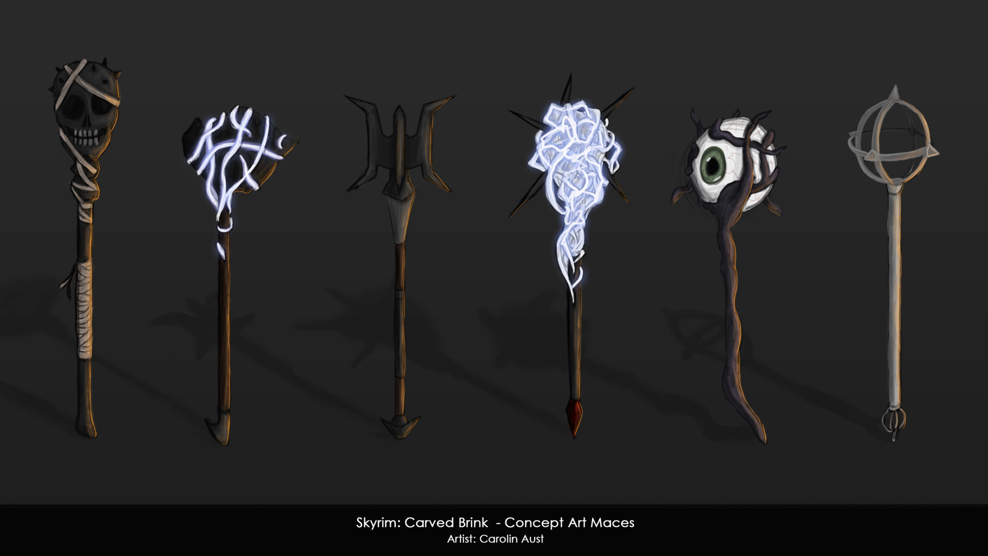 Dominik maral carolin aust carved brink conceptart maces