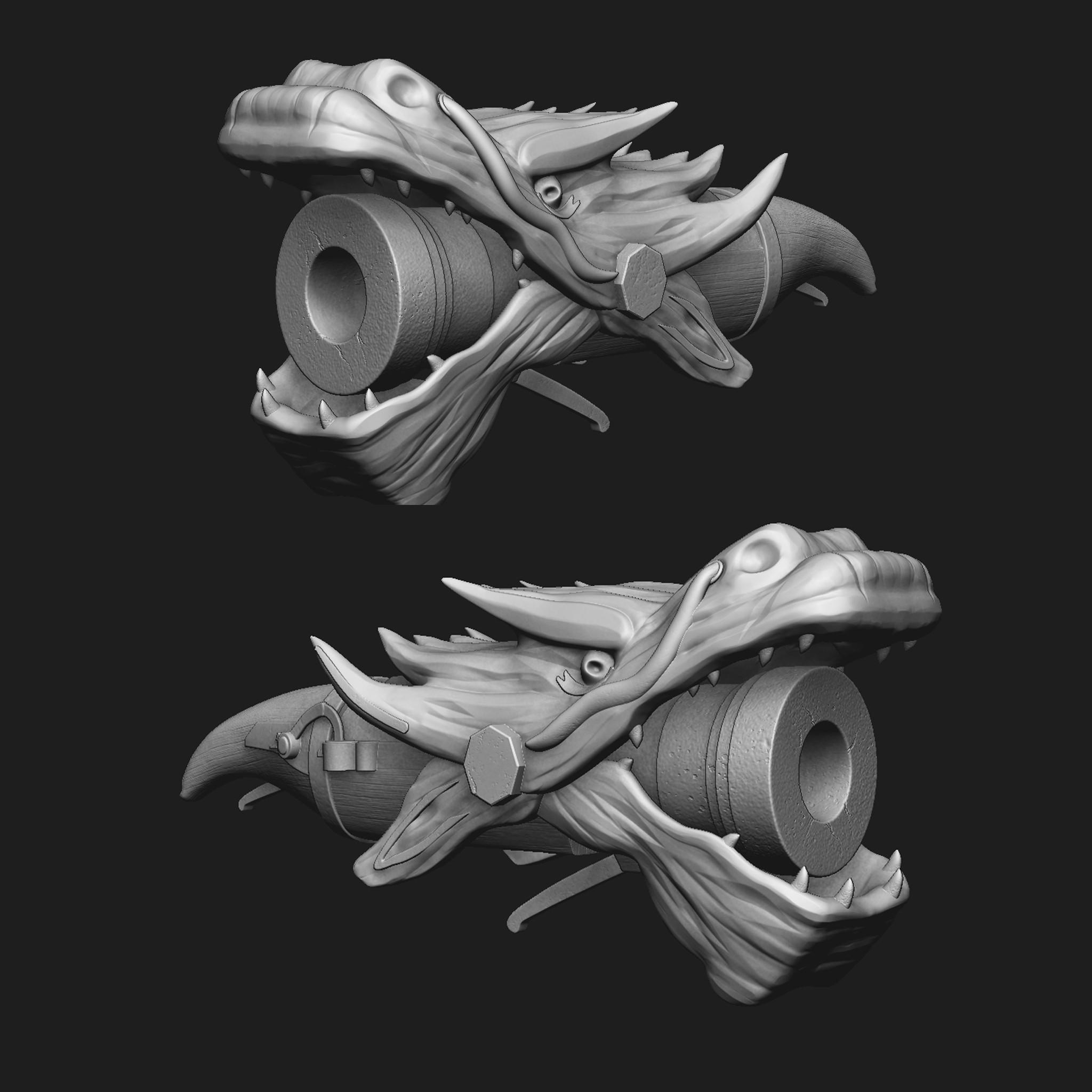 Dragon Tanegashima: Zbrush sculpt