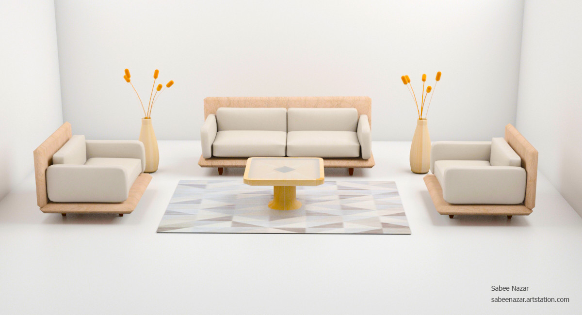 Incredible Sabee Nazar 3Dsmax Sofa Set Inzonedesignstudio Interior Chair Design Inzonedesignstudiocom