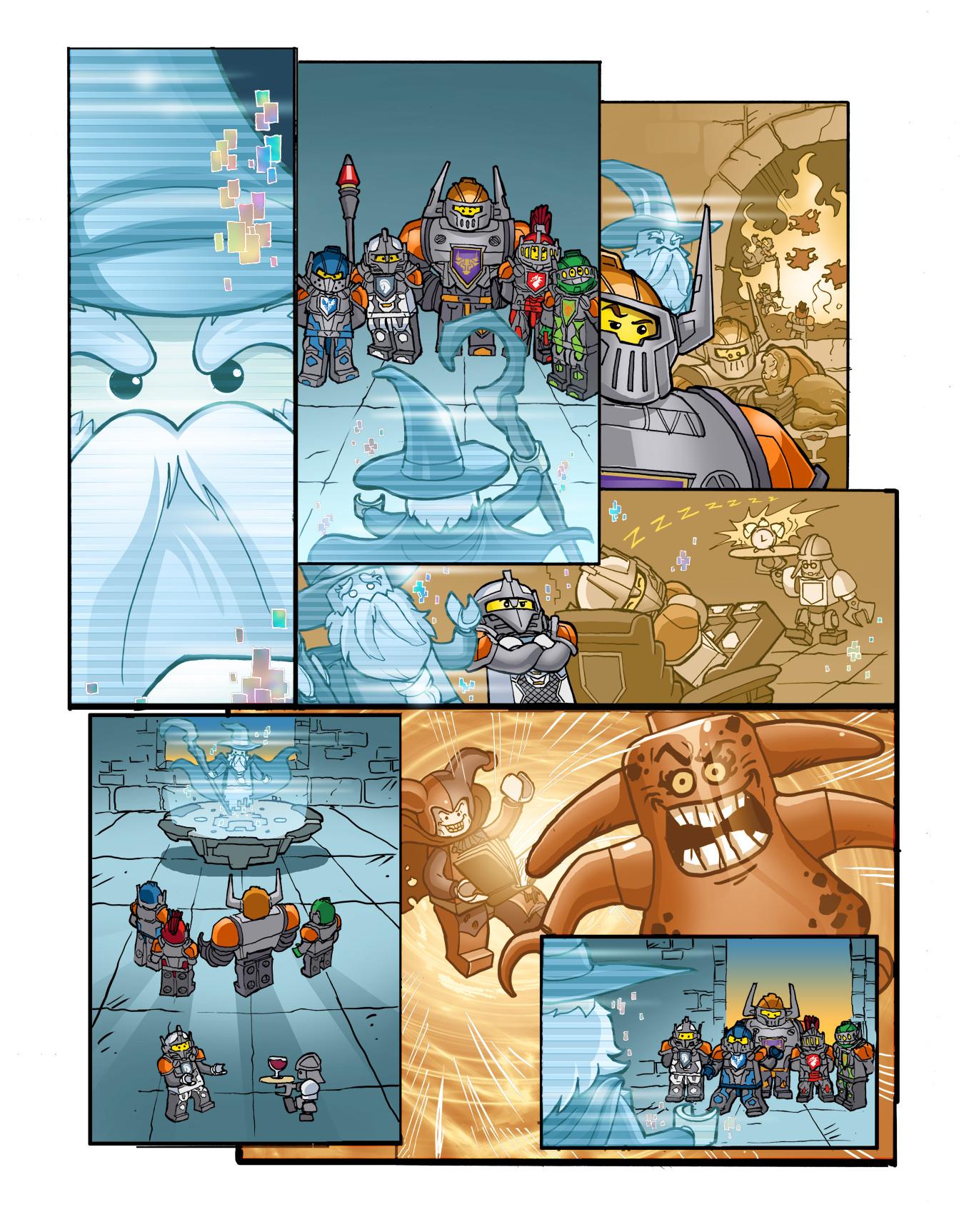 Gabriel cassata nexo knight colors page 1v2
