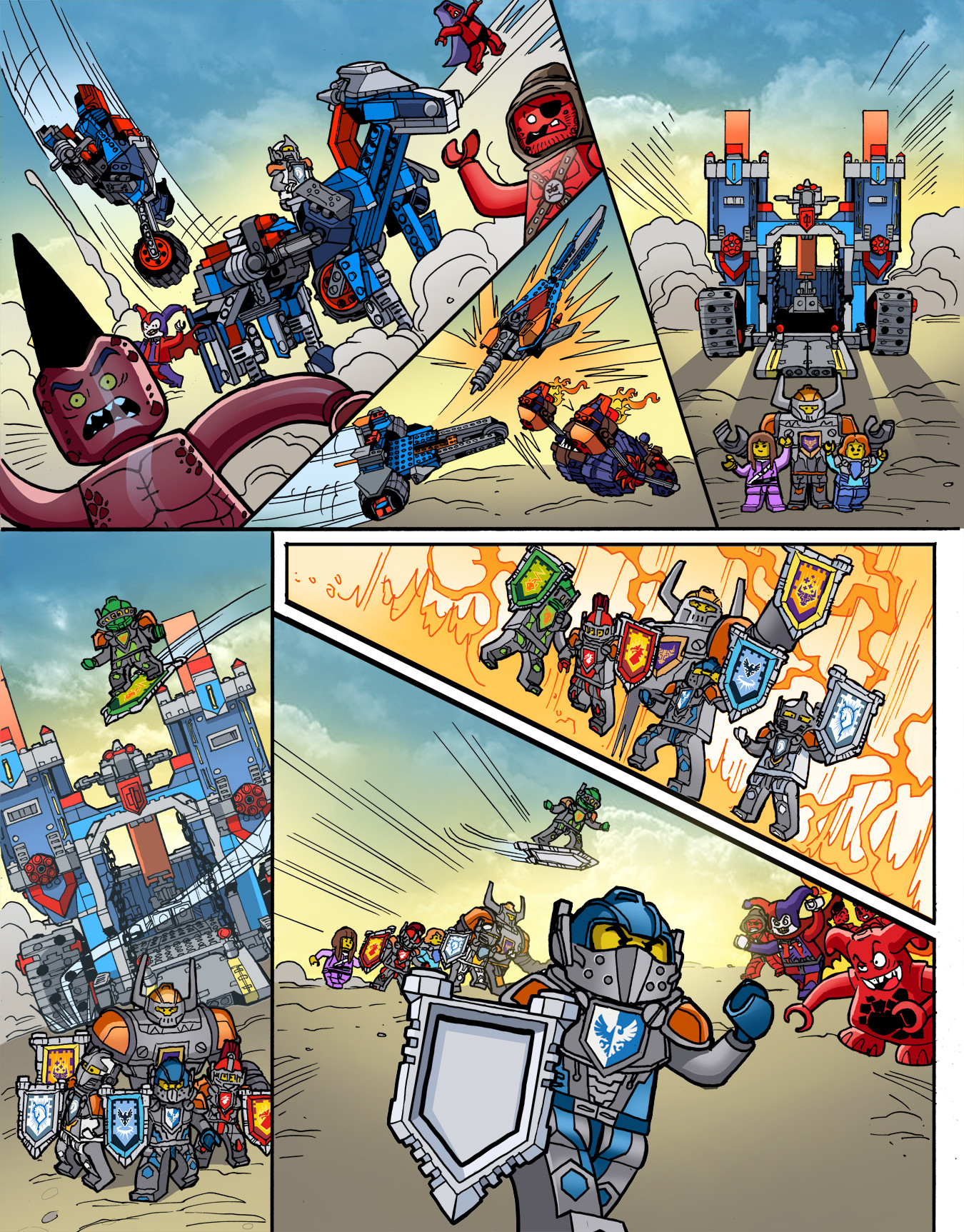 Gabriel cassata nexo knight colors page 2v2