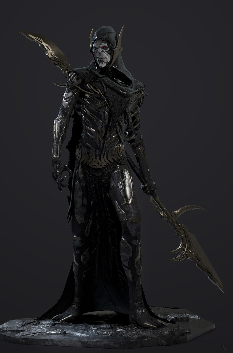 Front-Full Under armor/body designed by Jerad Marantz, Weapon Designed by Fausto De Martini