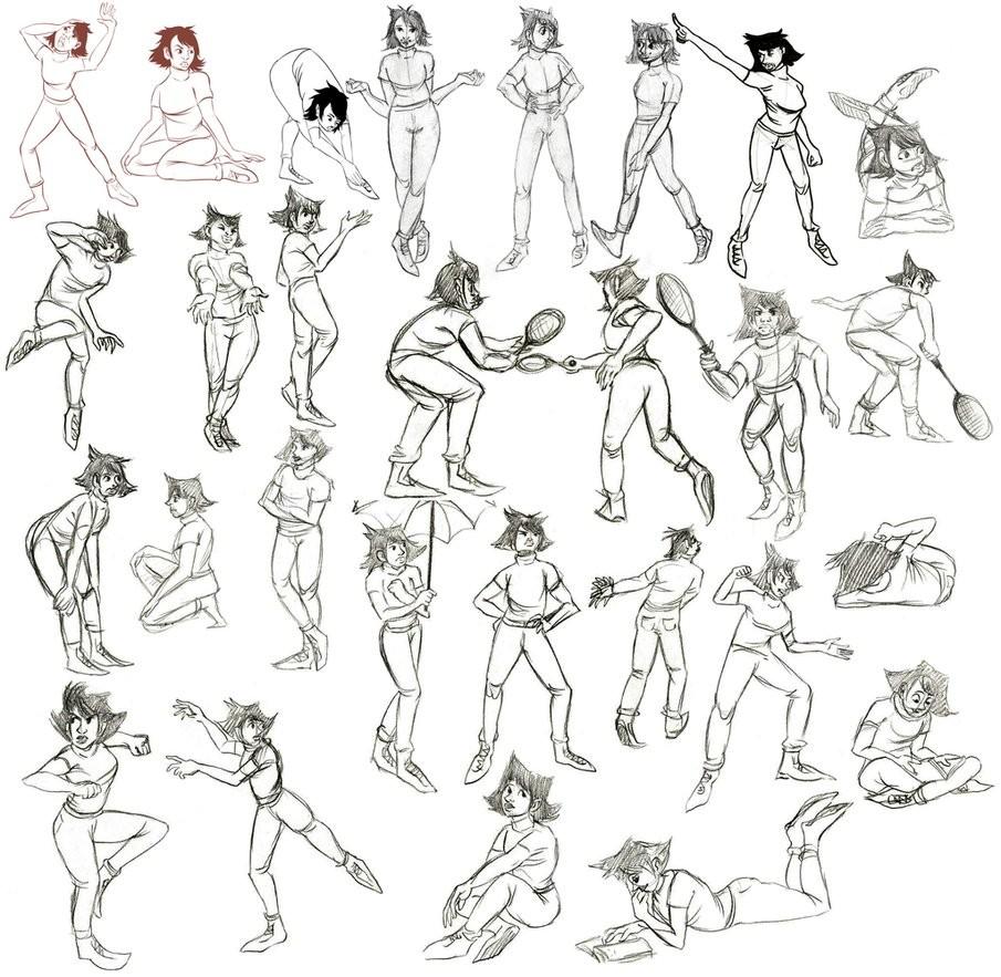 ArtStation - Gesture Drawings, Paulina Kozaczuk