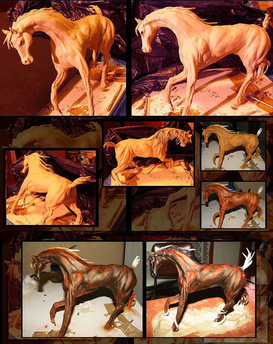 traditional horse sculpture