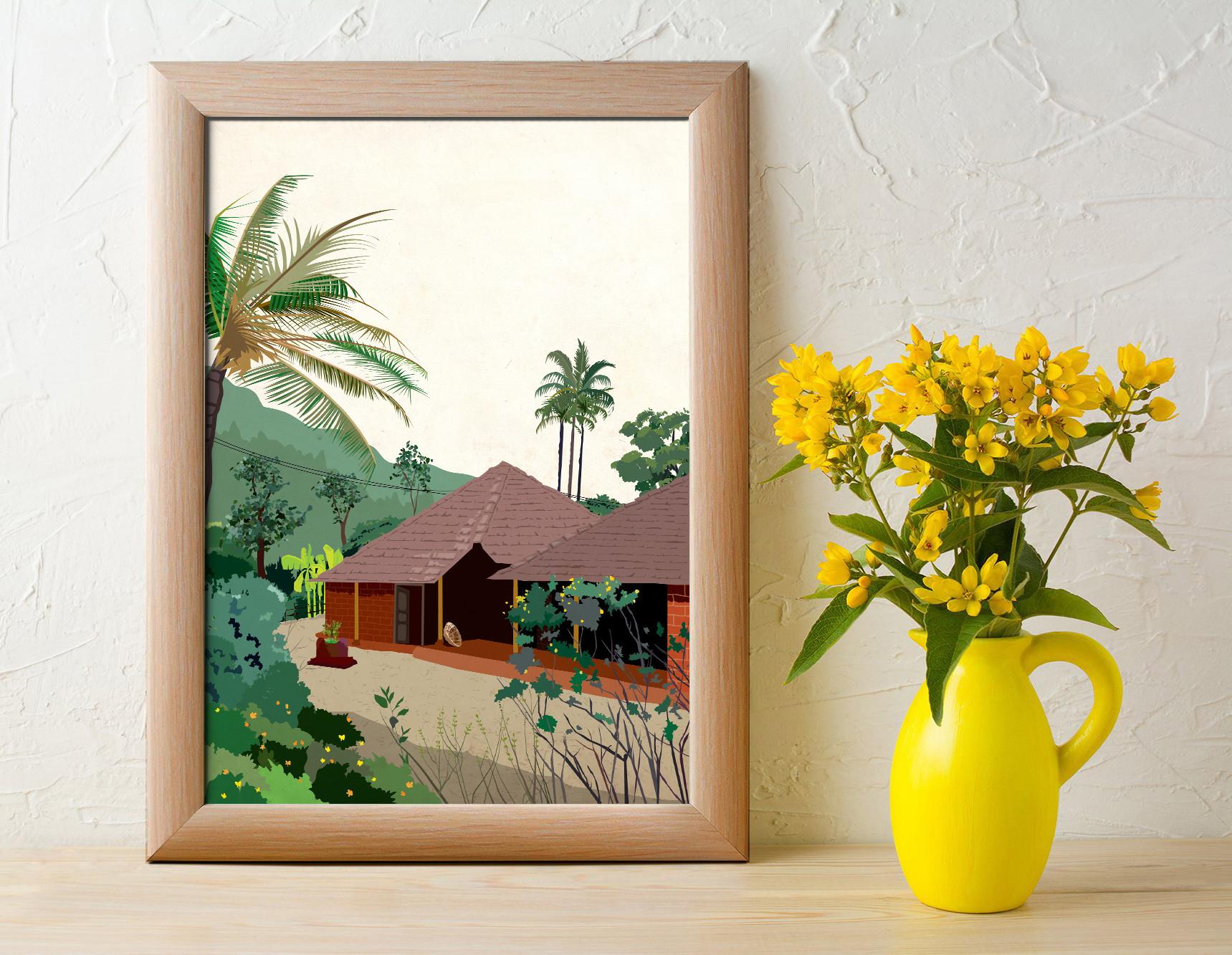 Rajesh r sawant konkan housee yellow pot