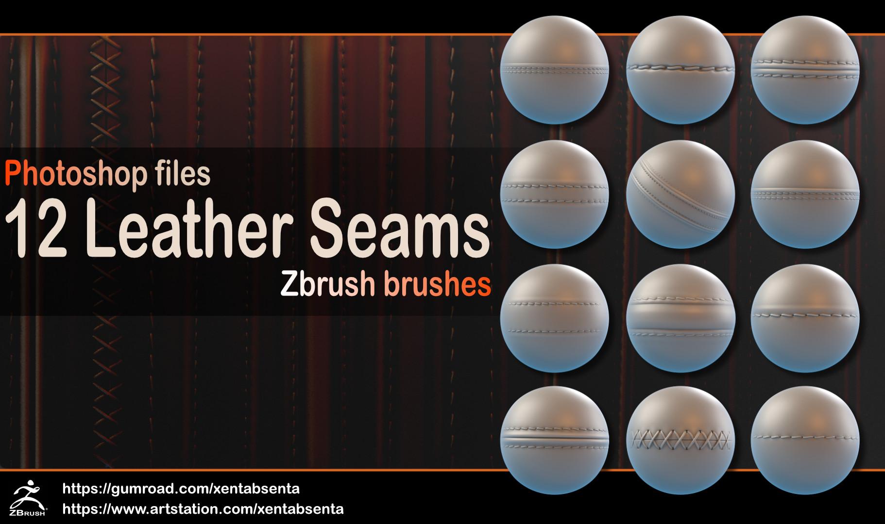 ArtStation - Leather Seams, Denis Lachikhin