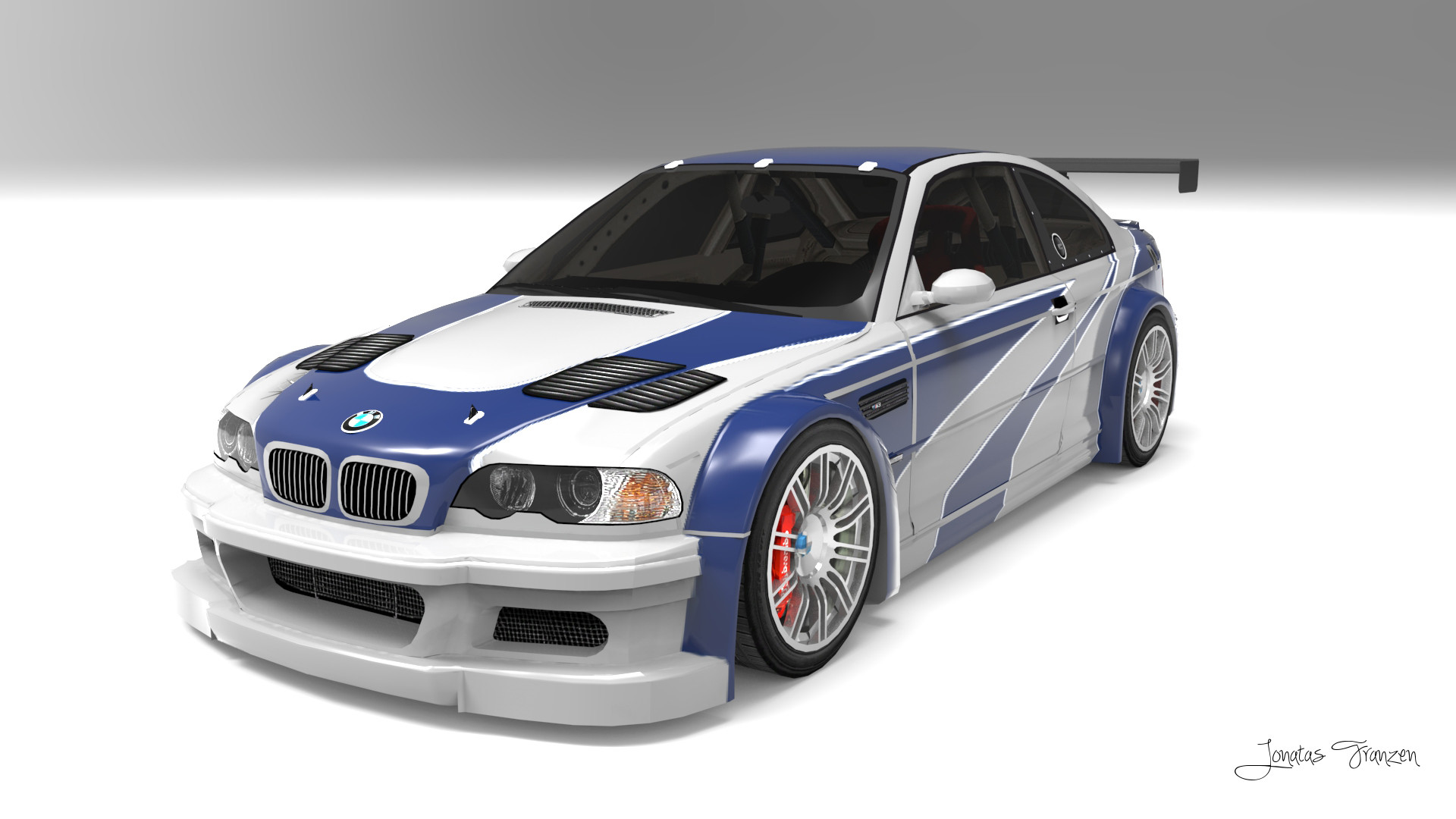 Bmw m3 gtr most wanted ford mustang razor style