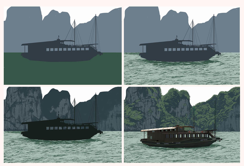 Bohlool belarak boat progress