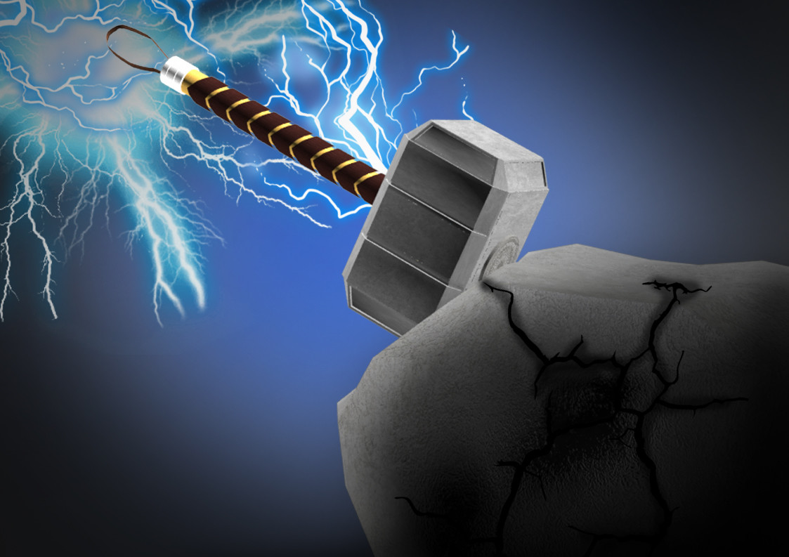 ArtStation - Fully rendered thor hammer , Harjap singh