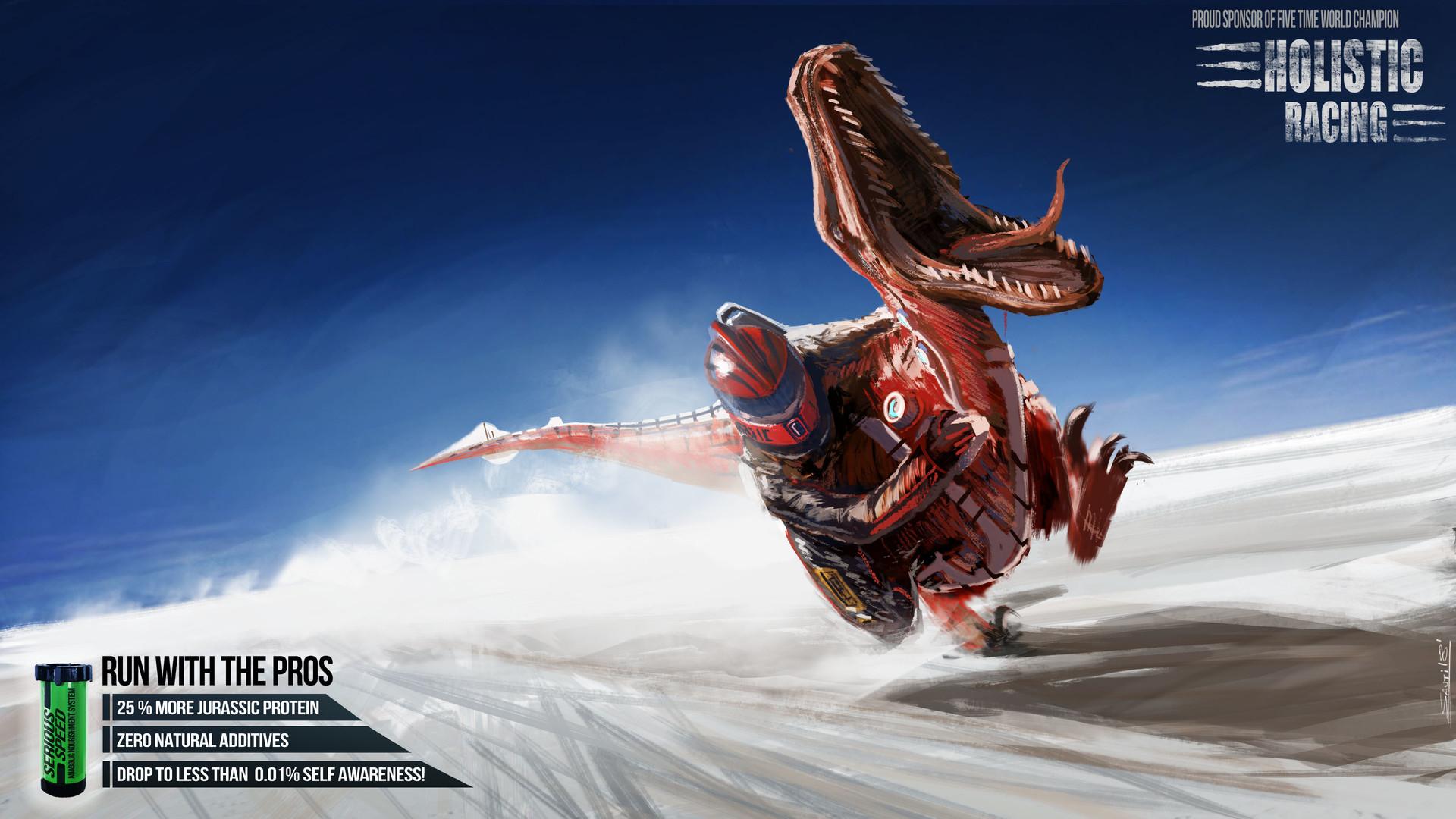 Santiago fuentes racingraptor v001illustrtation