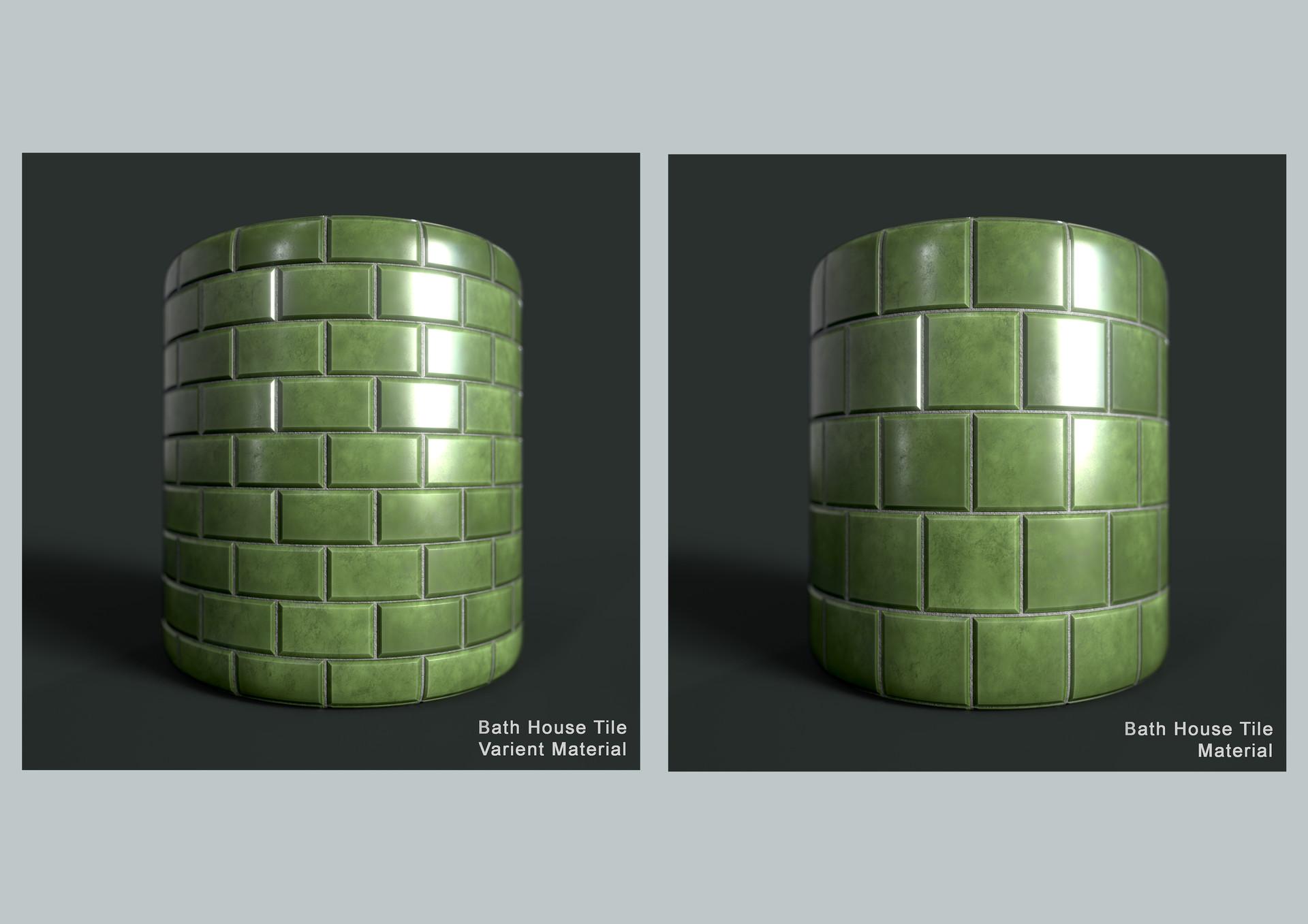 Victoria goldsmith bath tile material