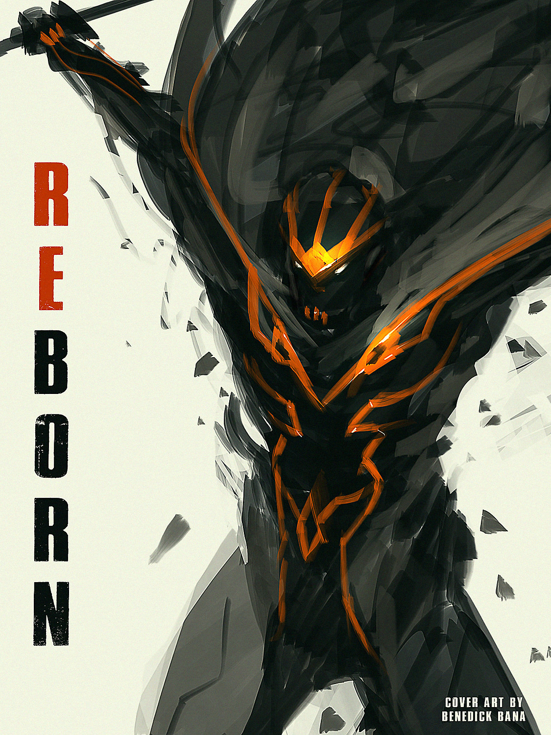 "my personal cover art / design titled ""REBORN"""