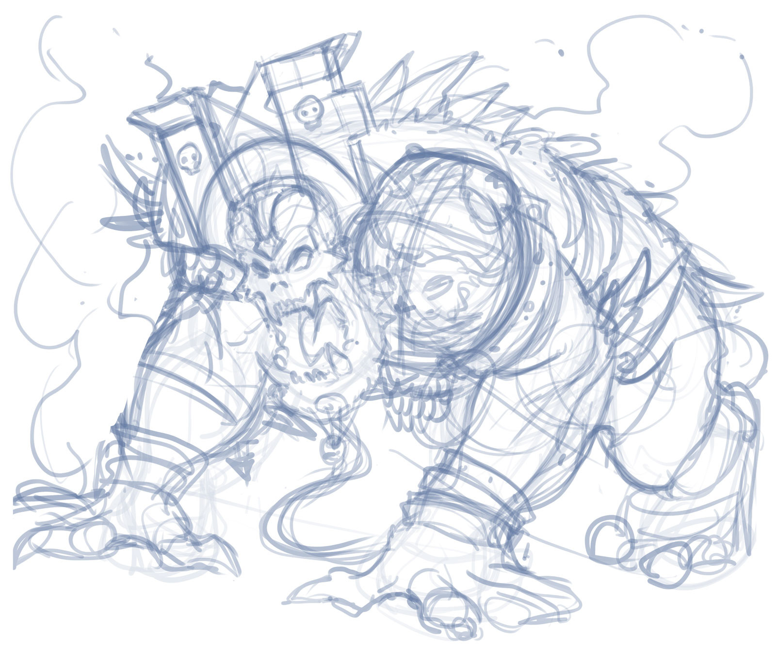 Rafael teruel cosmos quest world boss air by rafater rough sketch