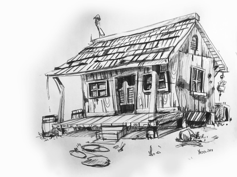Original pencil sketch.