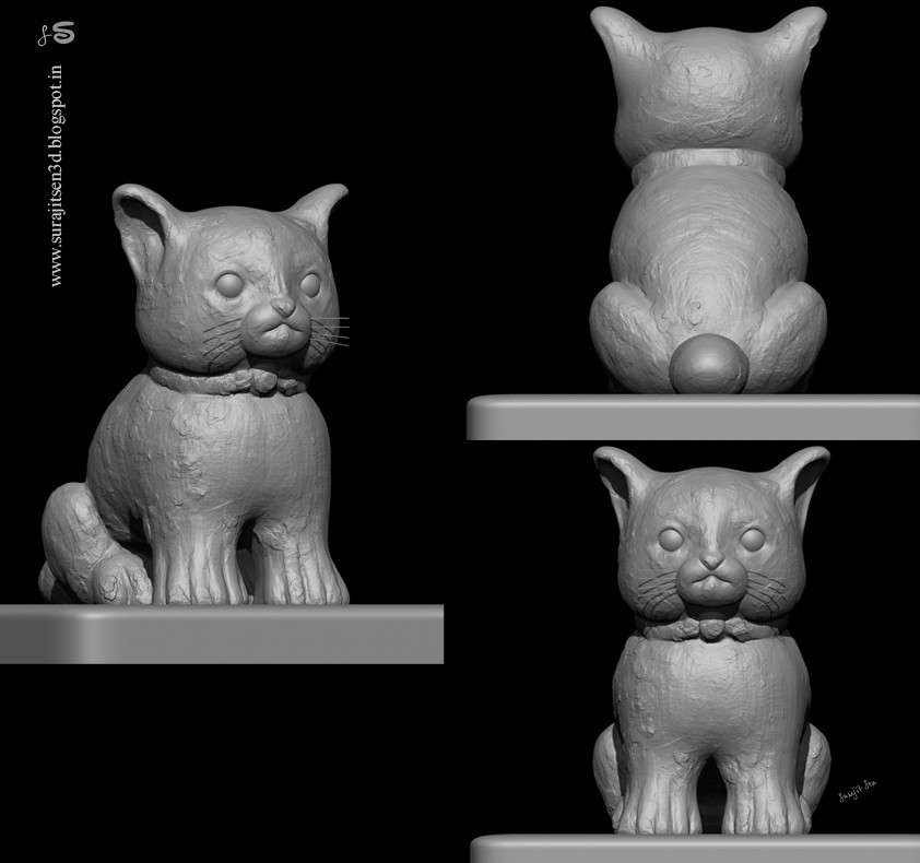 "My free time quick digital sculpt study. ...""Billi""! 