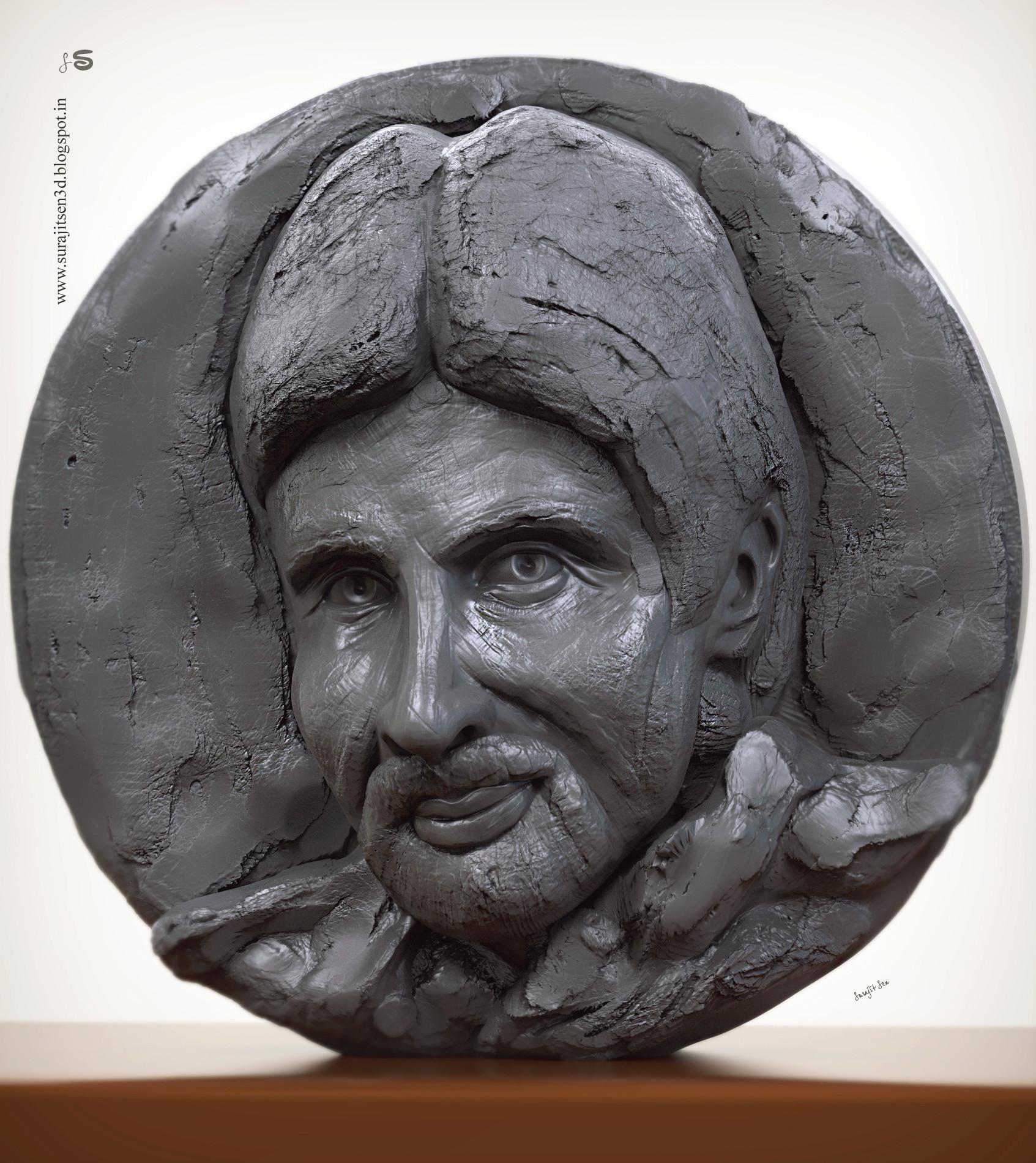 Surajit sen big b relf sculpt by suarjit sen 27112018