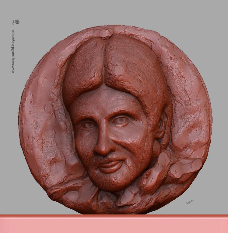Surajit sen big b relf sculpt by suarjit sen 27112018 wip