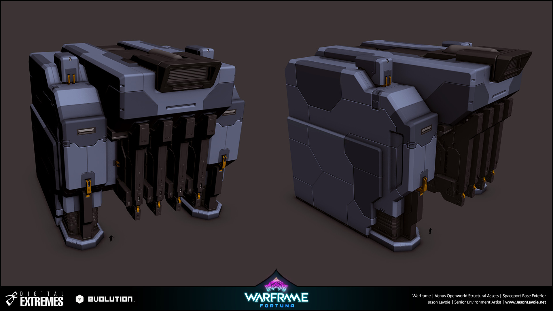 Jason lavoie jasonlavoie warframefortuna spaceportbaseexterior 3dmax buildingbase