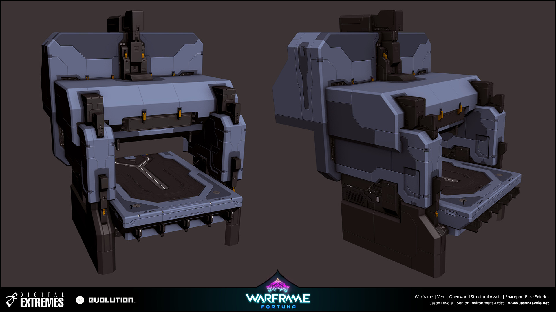 Jason lavoie jasonlavoie warframefortuna spaceportbaseexterior 3dmax buildingtop
