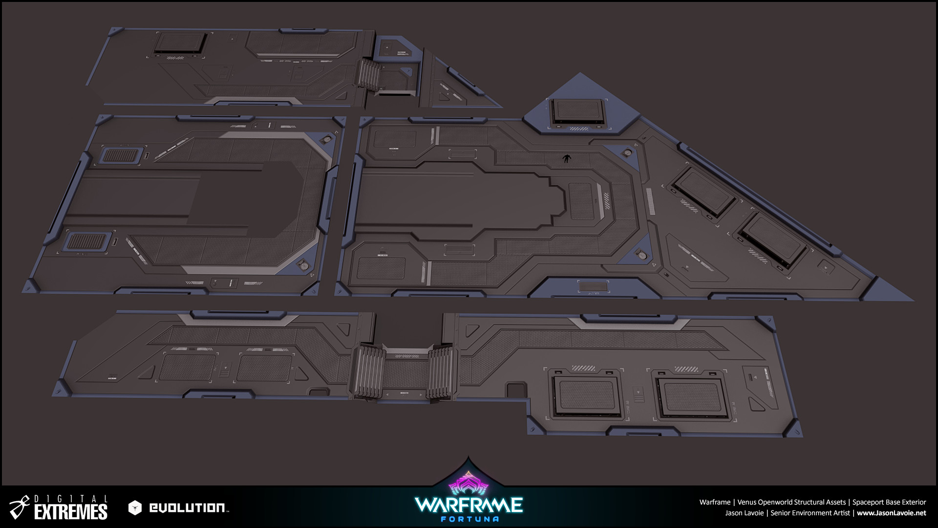 Jason lavoie jasonlavoie warframefortuna spaceportbaseexterior 3dmax floors