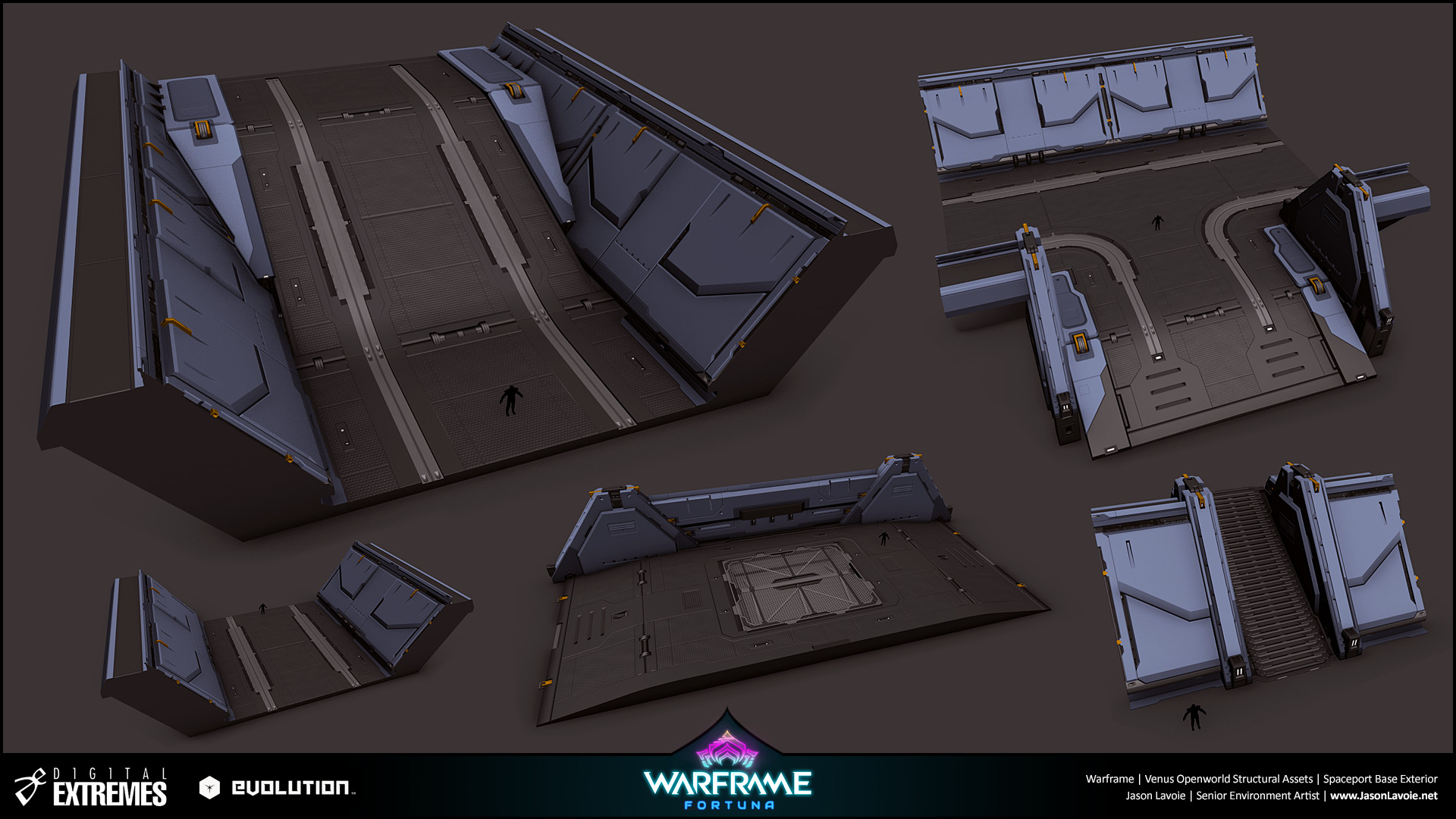 Jason lavoie jasonlavoie warframefortuna spaceportbaseexterior 3dmax trenches