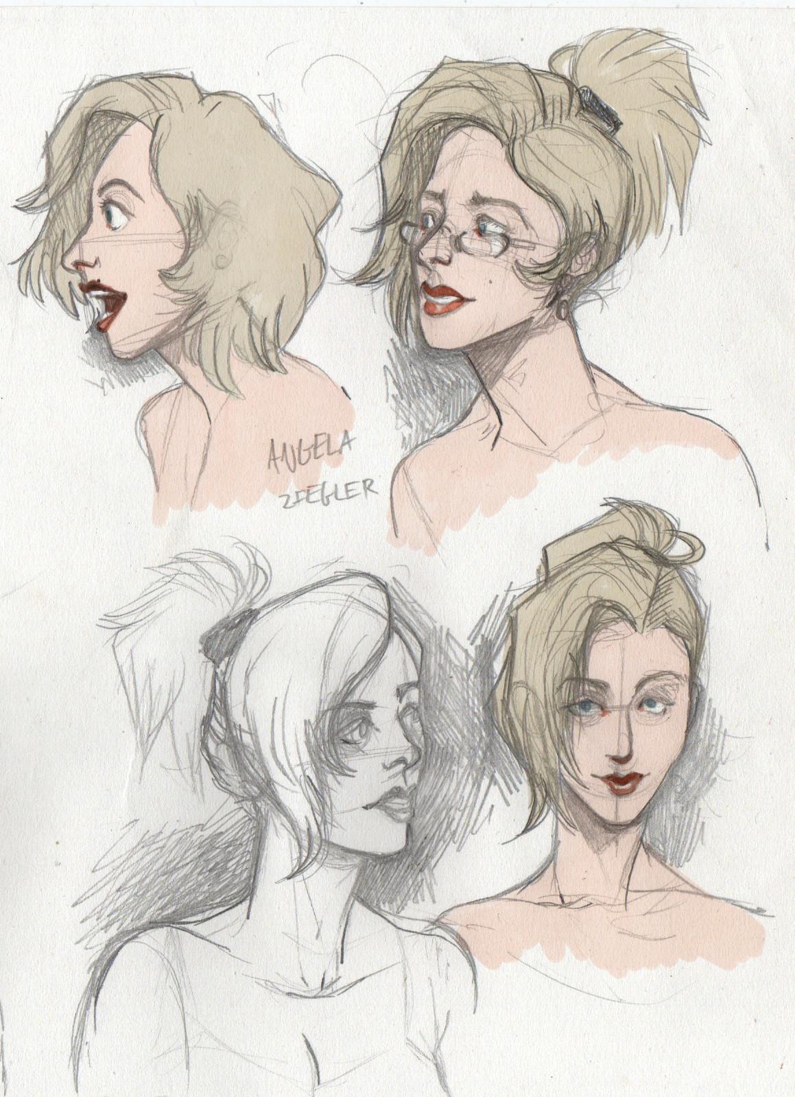study: Overwatch faces/Angela Ziegler