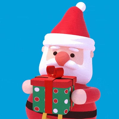 Tzuyu kao artstation tykcartoon 3d santa claus with gift