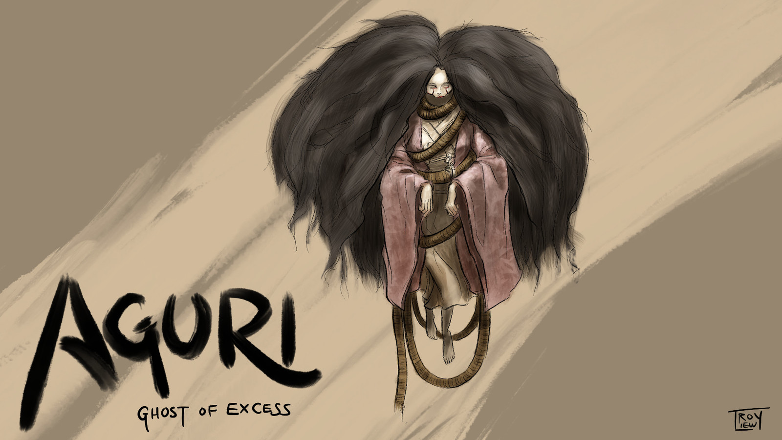 Long before the current tumult of war, there was a period of peace and prosperity. Even so, Aguri met a terrible and violent end. The peace went on without her, rolling over any memory of the poor girl. Then she rose again, a ghost from a time of excess.