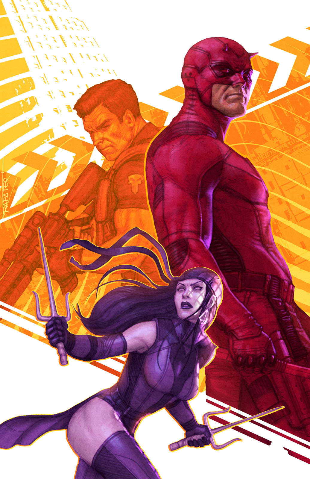 Elektra, Daredevil and the Punisher