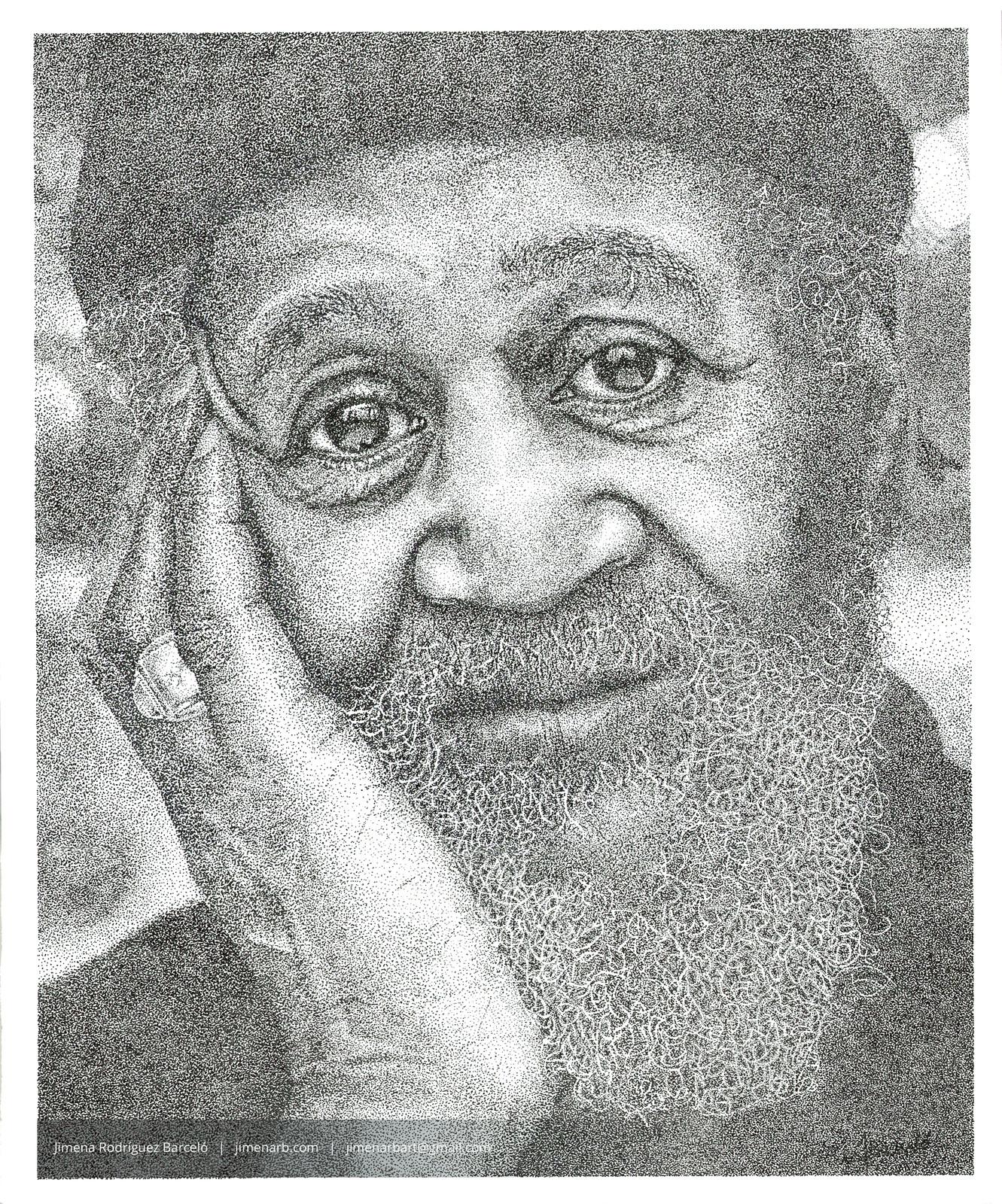 Pointillism Portrait