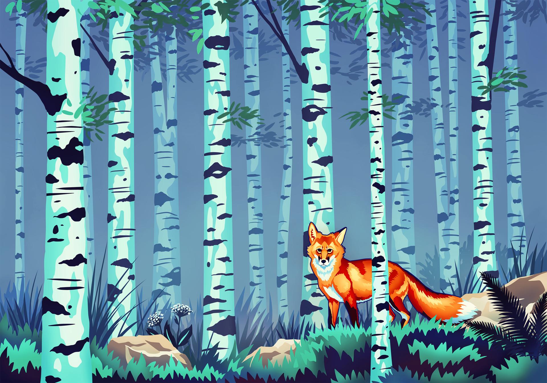 Martina nachazelova fox and birches sienna30