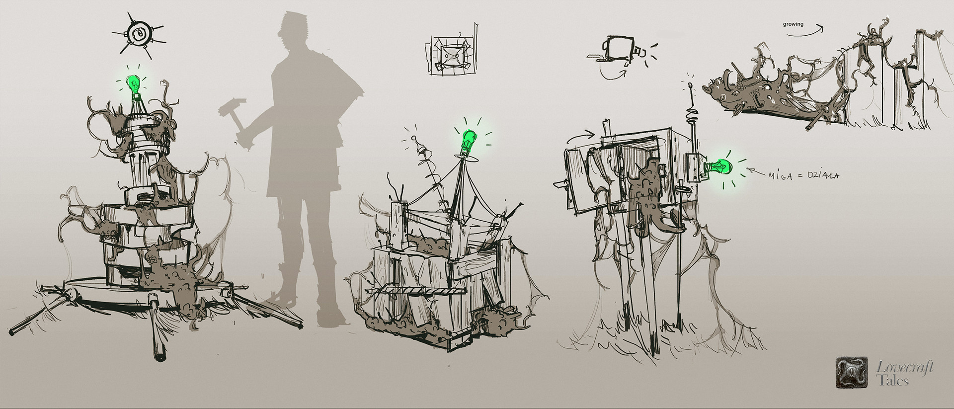 Lovecraft Tales Concept arts