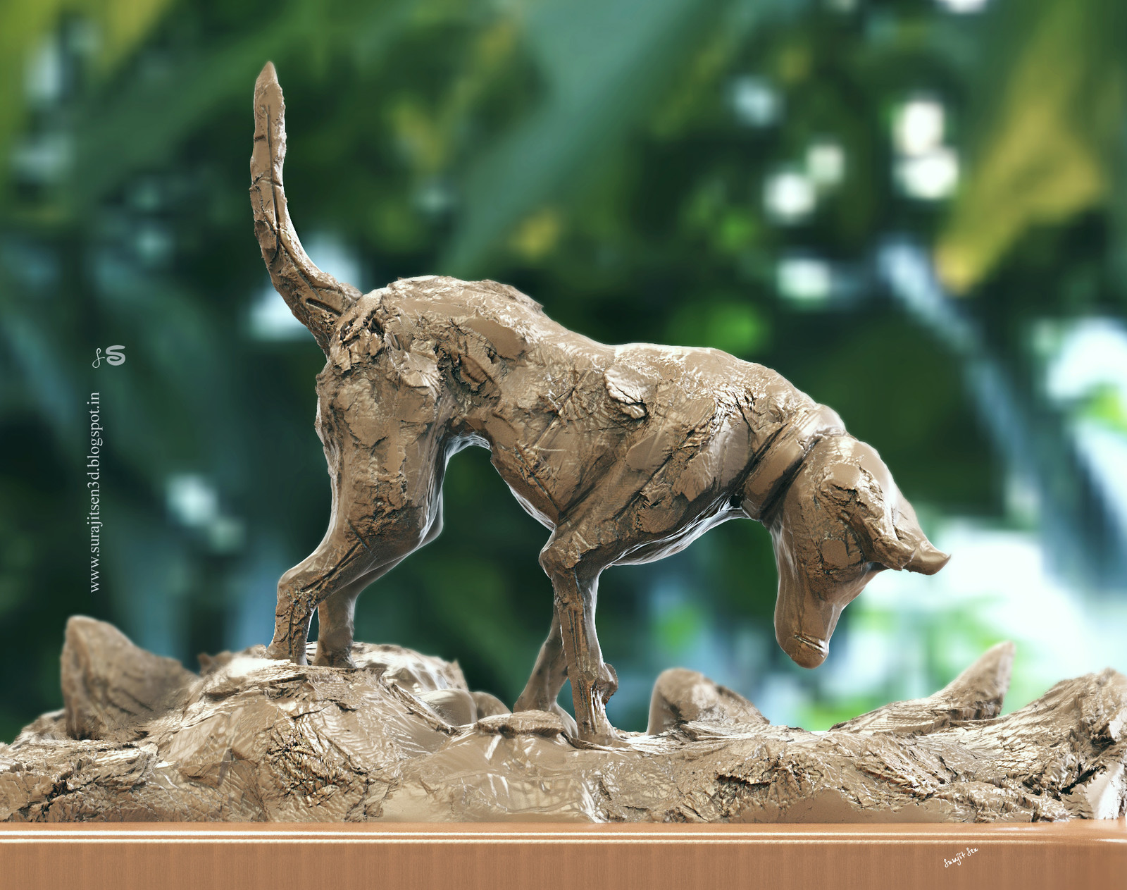 "#digitalsculpting #doodle #quicksculpt #study I tried to make a basic form of #dog . ""Browny""....."