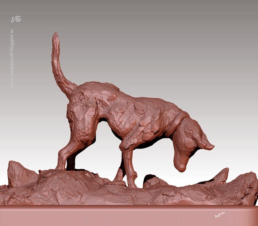 Surajit sen browny speed sculpt study surajitsen 03122018 wip