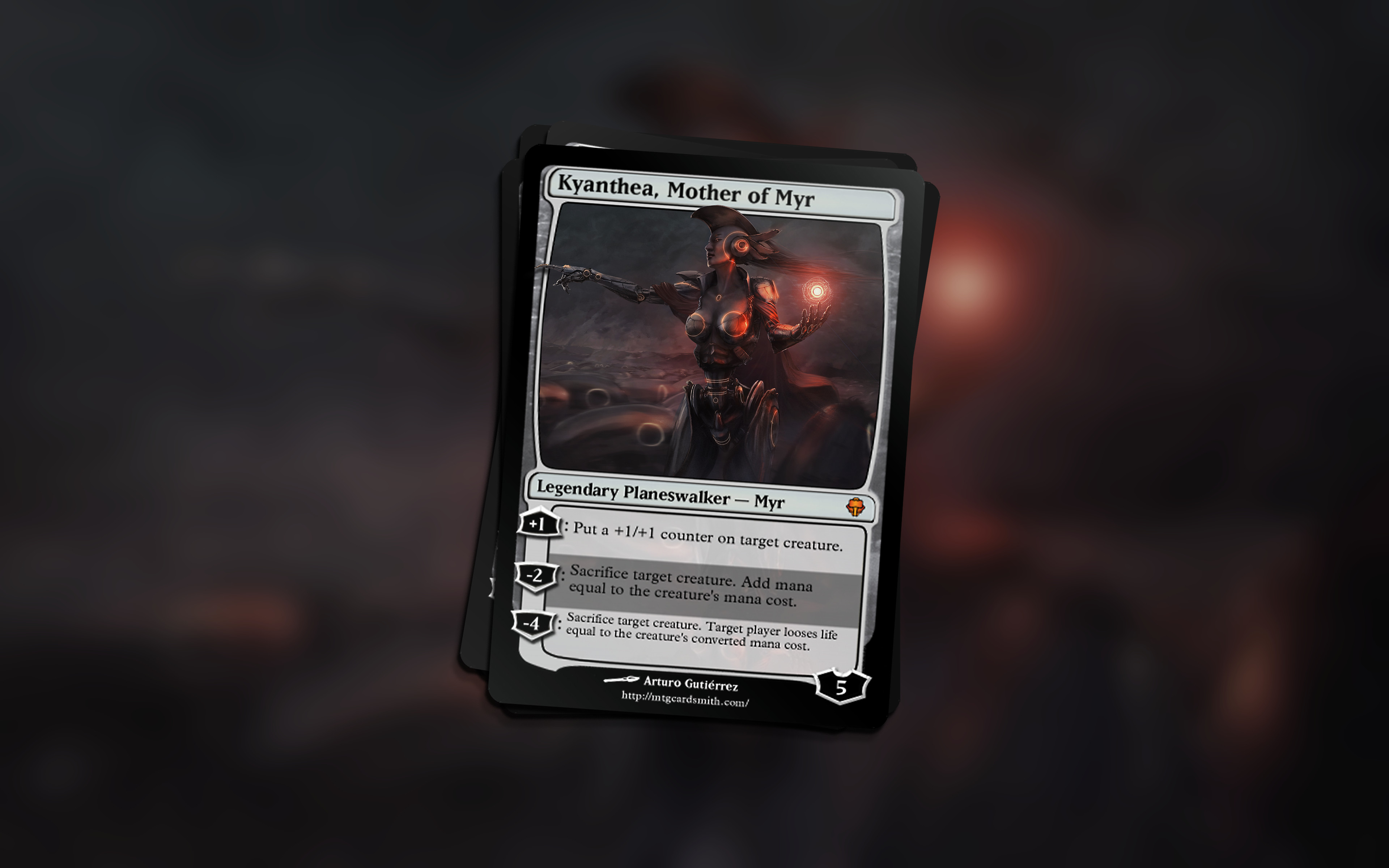 Card made with mtgcardsmith.com: Not a real MTG card.