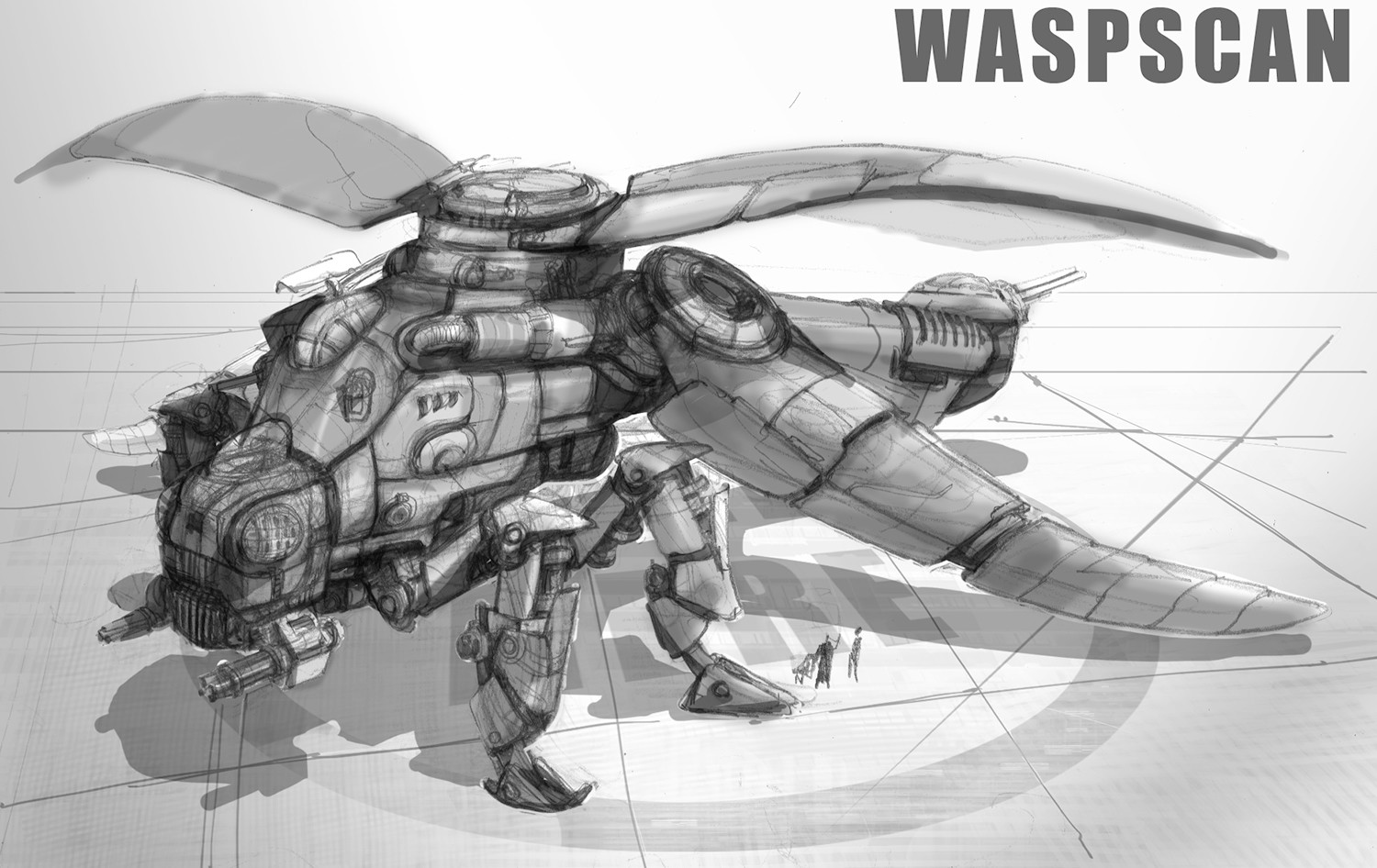 Wasp Scan Battle Ship concept
