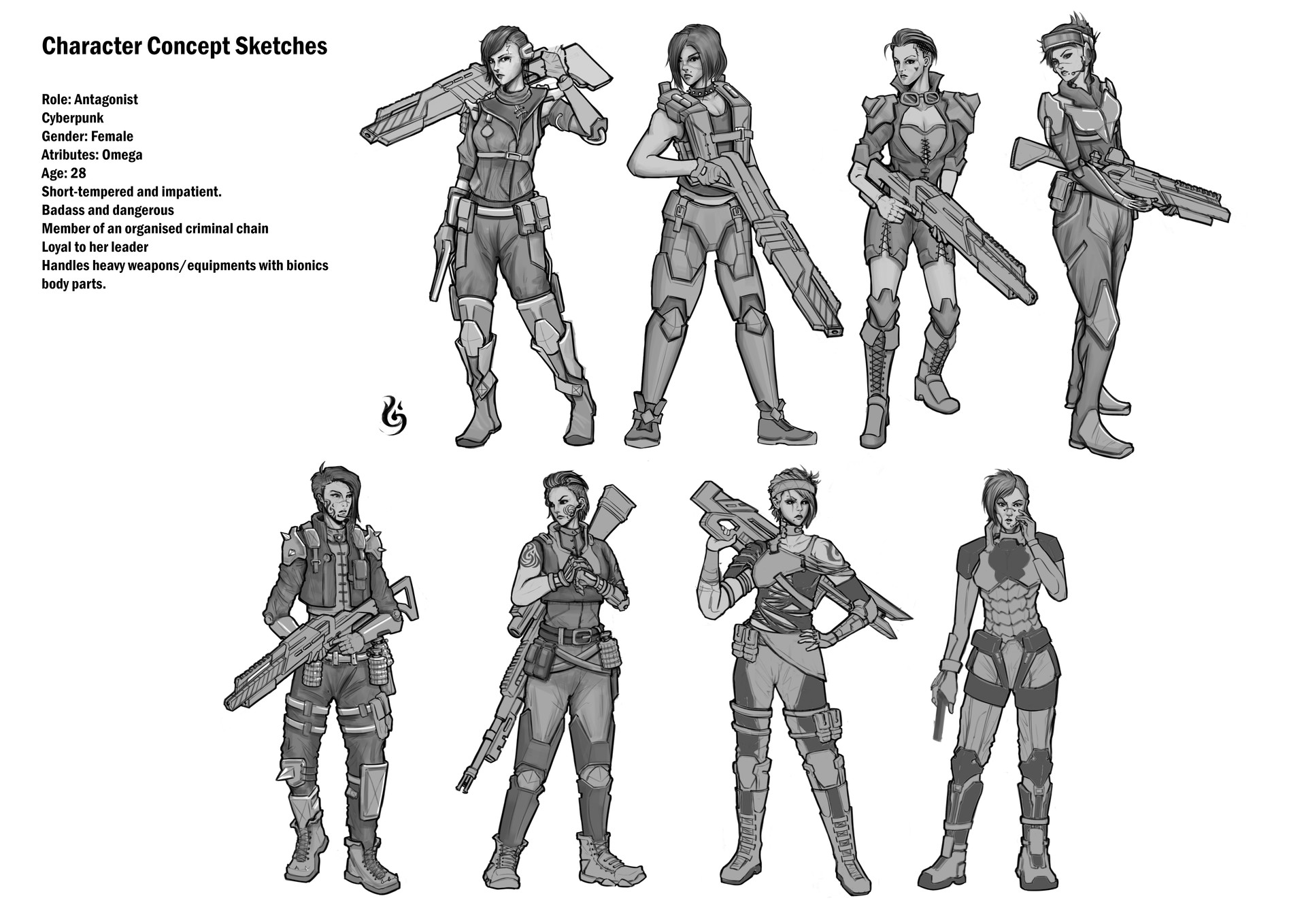 Badass Female Soldier Concept Art