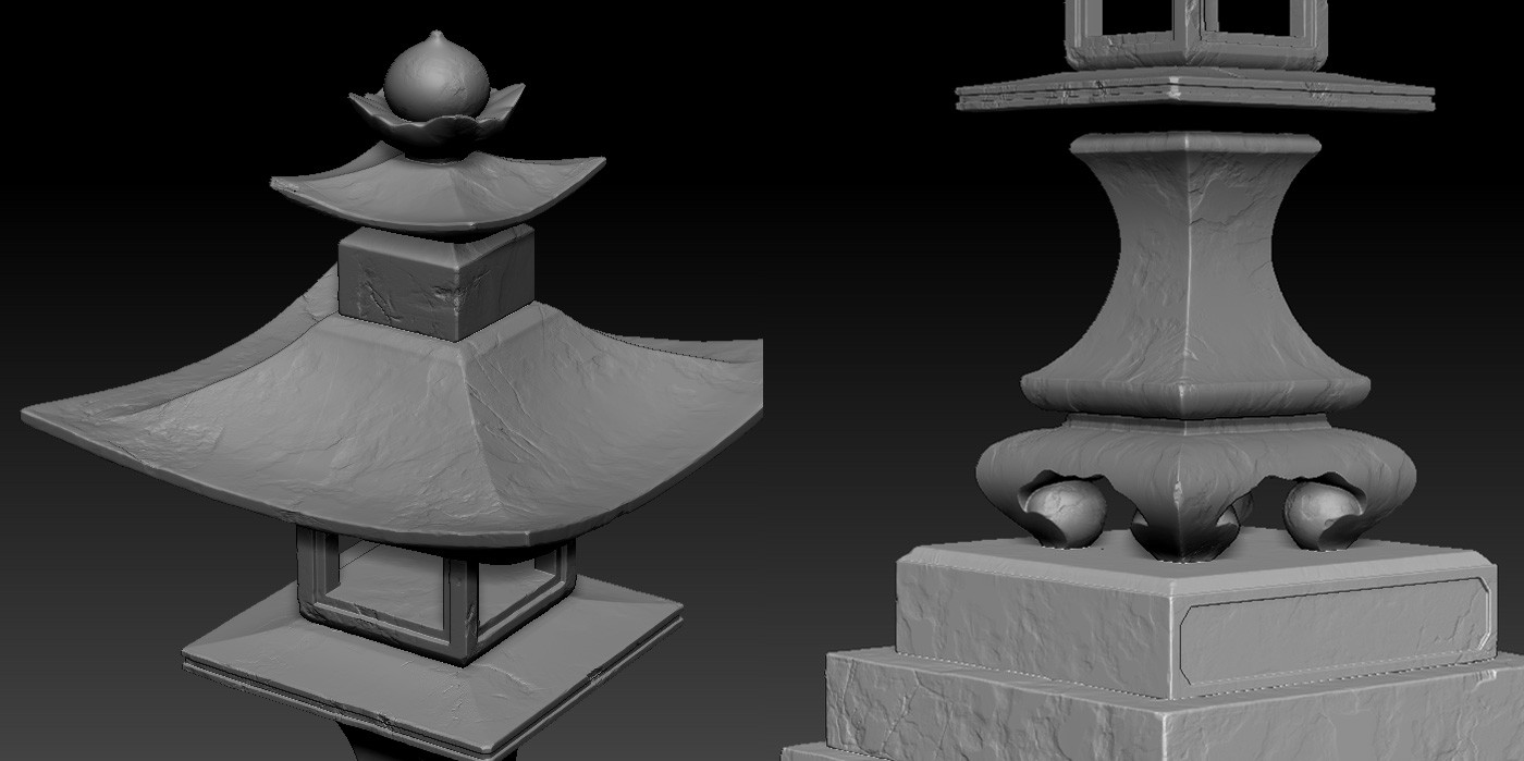 Damage pass in Zbrush - mostly alphas, trimed edges and a bit of NoiseMaker.