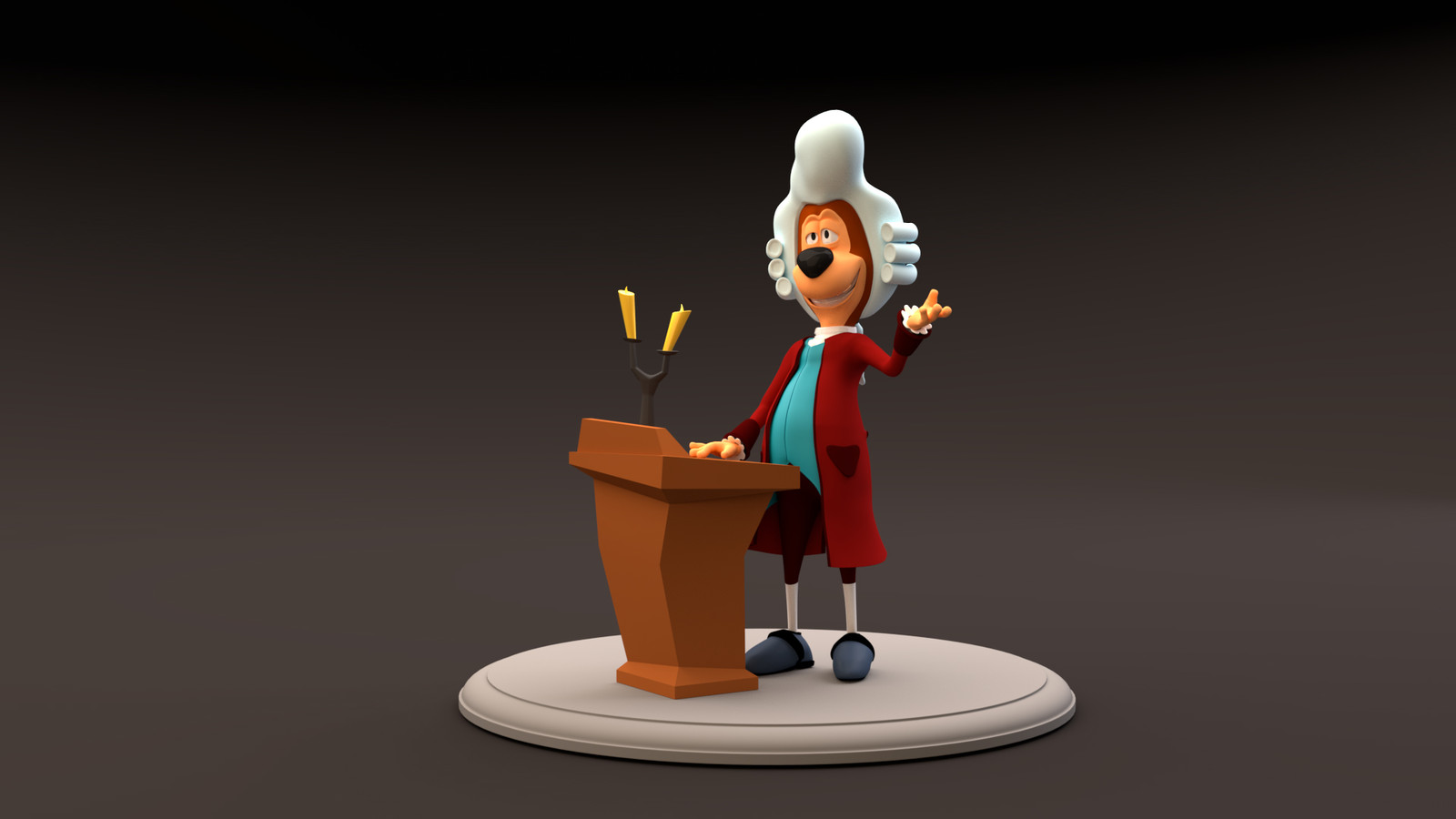 George the Butler, 3D model and design