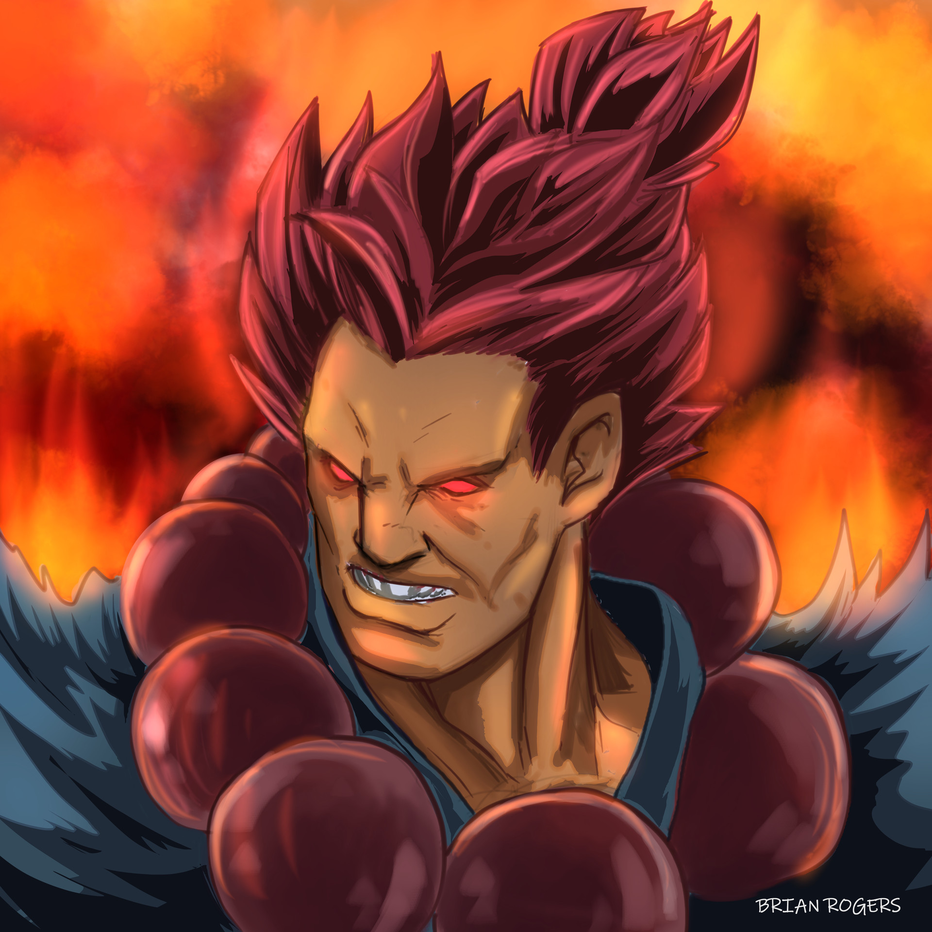 My name is Akuma ! The Master of Fists ! Brian-rogers-akuma-sketch