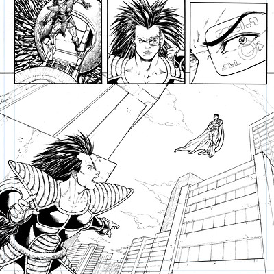 Gustavo melo raditz vs superman page 03 sample low