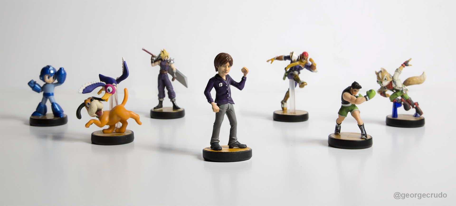 George crudo sakurai ultimate amiibo group