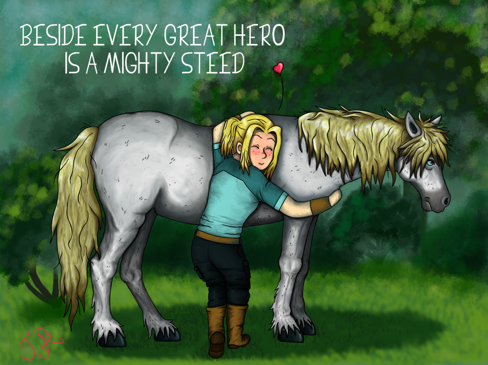 Gaia Webcomic artstation - mighty steed, mariah lindburg