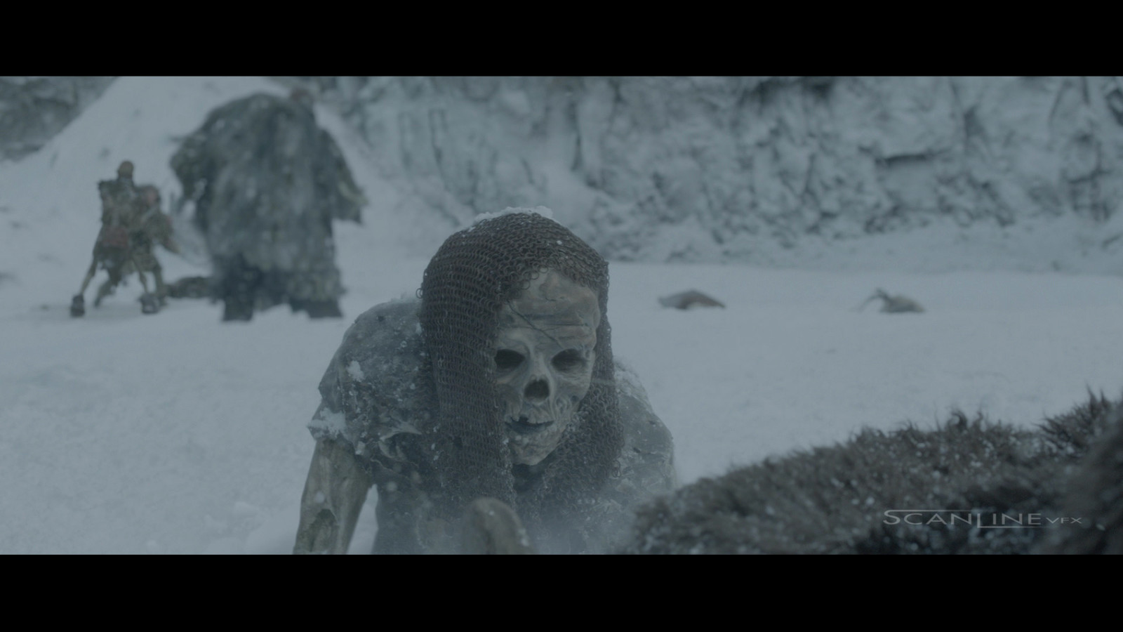 Compositing and integration work for Game of Thrones Season 5. Work done at Scanline VFX with a team of 3D artists. Software used: Nuke.  Full CG Character body parts, FX Integration, 2D Snow Enhancement, Plate Integration.
