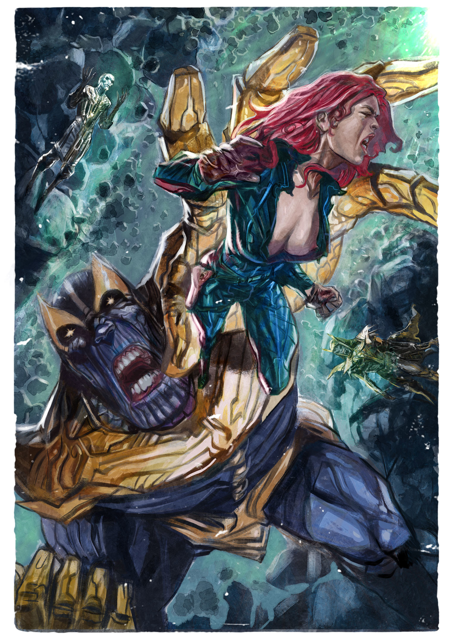 Daniele afferni daniele afferni comicartist thanos blackwidow