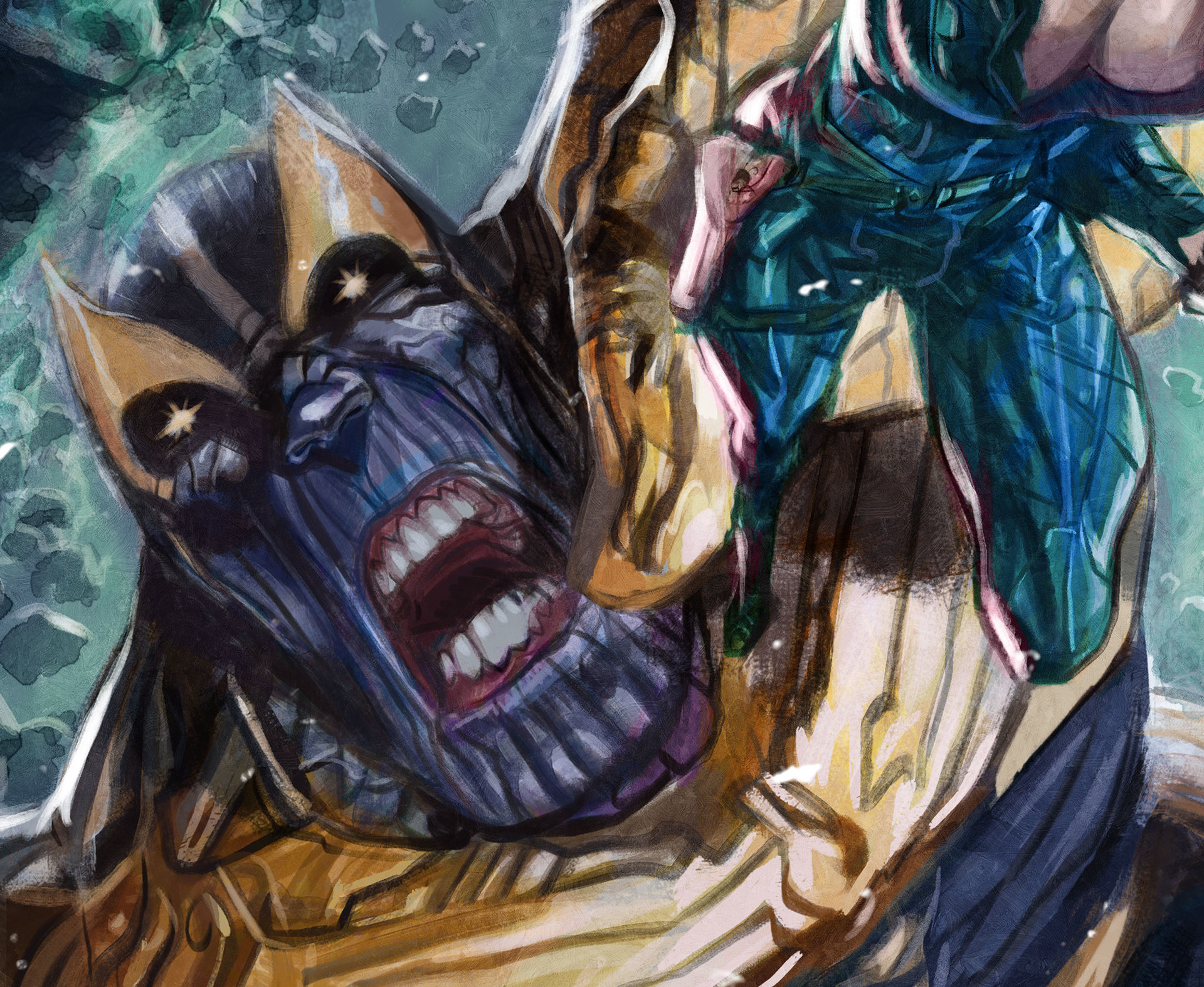 Daniele afferni daniele afferni comicartist thanos blackwidow close2